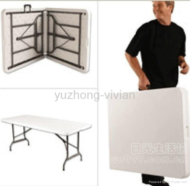 6ft plastic folding table/ blow molding table/outdoor ...