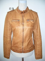 garment dyed PU jacket