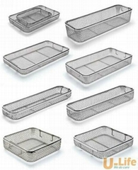 Sterilization stainless steel wire mesh tray