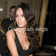 Black deep wave celebrity Lace Wig