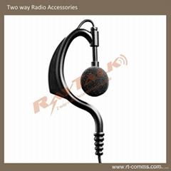 Two Way Radio Black Earphone E-22