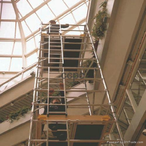Aluminum tower with ladder frame  1