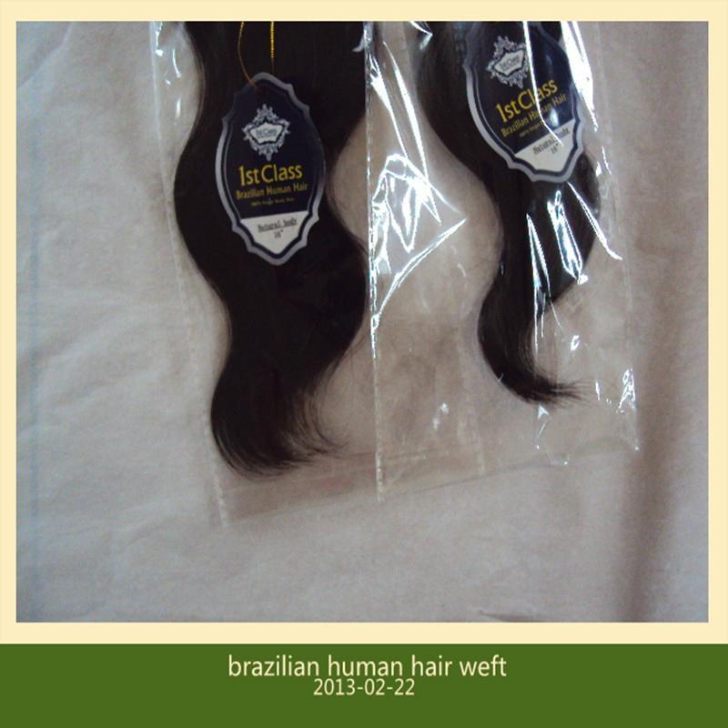 brazilian virgin human hair weft extensions 4