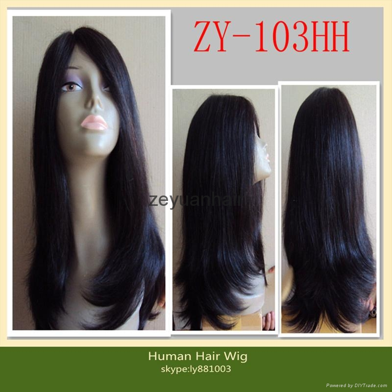indian human hair full lace wigs 3