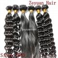 Unprocessed Virgin Remy Brazilian Human Hair Extension 2