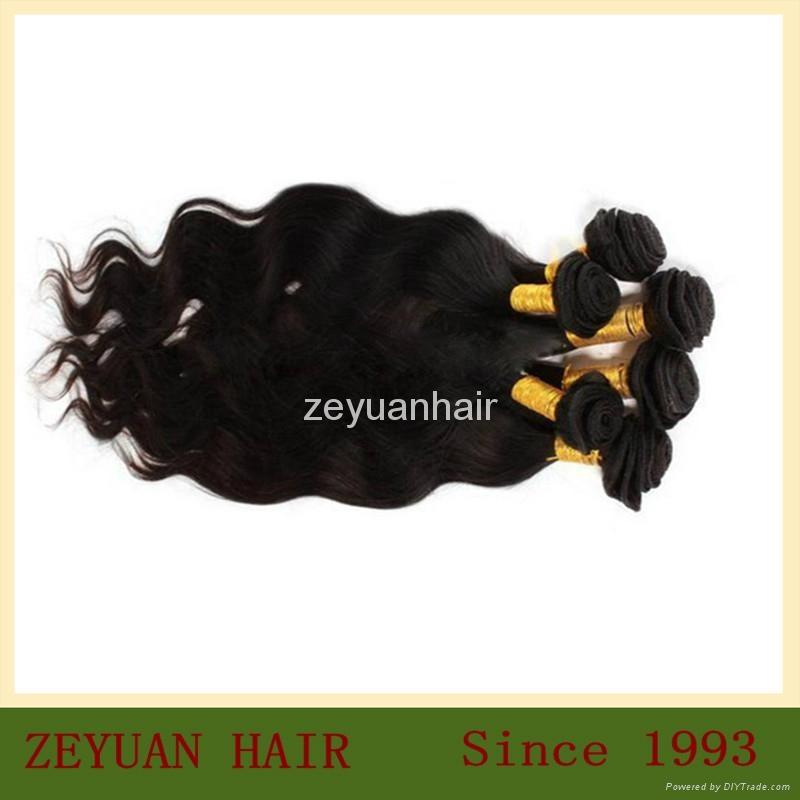 Unprocessed Virgin Remy Brazilian Human Hair Extension 1