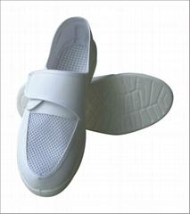 防靜電PU皮革魔朮貼網面鞋