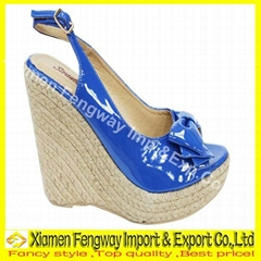 Leatherette Platform Wedge Heel Party/Evening Shoes With Flower