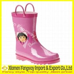 Fancy Rubber Rain Boots for Ladies
