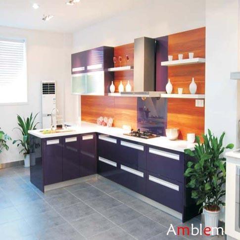 Purple Lacquer Kitchen Cabinet Amblem China