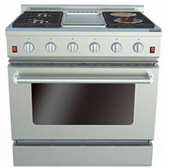 36 Inches Gas Oven with Griddle & Electric Ceramic Furnaces
