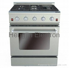 30 Inches Gas Oven with Electric Ceramic Furnaces