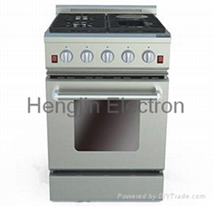 24 Inches Gas Oven with Electric Ceramic Furnaces
