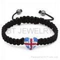 Union Jack Shamballa Bracelet UK Flag