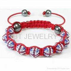 Union Jack Shamballa Bracelet For London Olympics