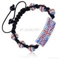 Union Jack Shamballa Bracelet For London Olympics 2