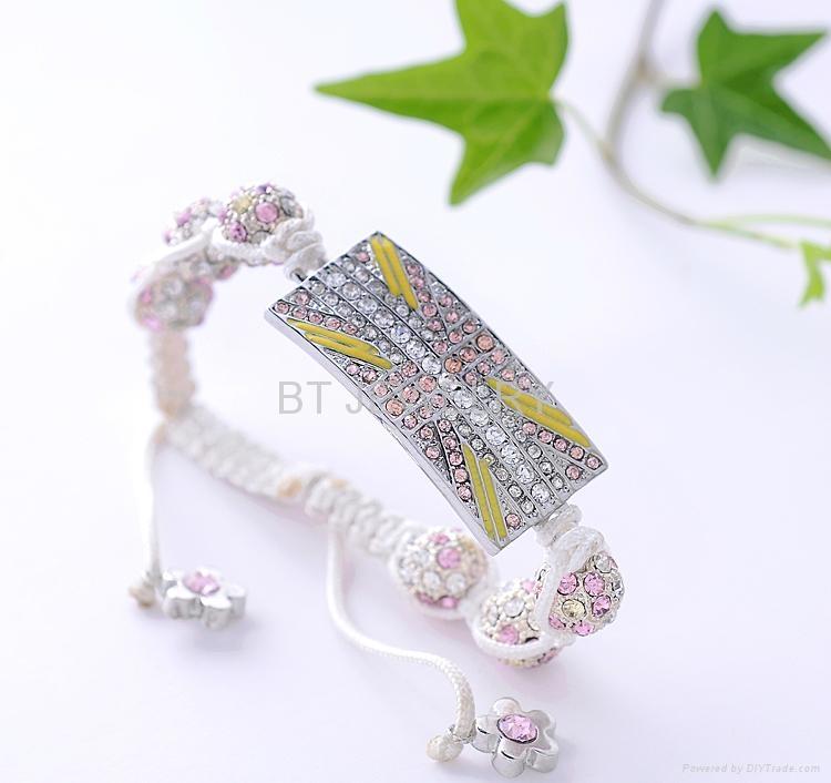 Union Jack Shamballa Bracelet For London Olympics 3