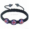 Union Jack Shamballa Bracelet For London Olympics 4
