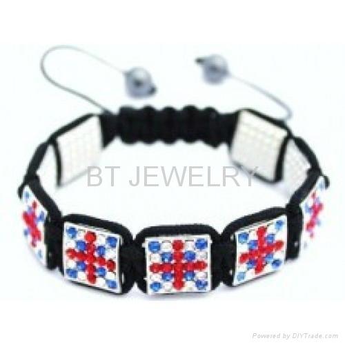Union Jack Shamballa Bracelet For London Olympics 5