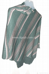 Europe plus size in winter or autumn sweater with batwing style