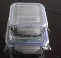 Pyrex Rectangular glass food storage set for kitchenware  1