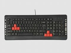 带游戏功能超薄豪华防暴防水无阻力键盘