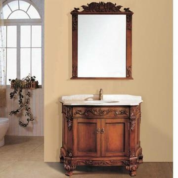 Solid classic wood bathroom cabinet bathroom vanity makeup bathroom
