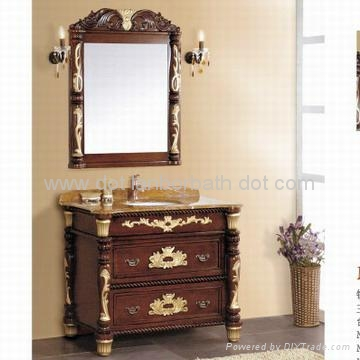 Bathroom Makeup Vanity on On Solid Classic Wood Bathroom Cabinet Bathroom Vanity Makeup Bathroom
