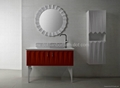 Artificial stone bathroom furniture vanity cabinet