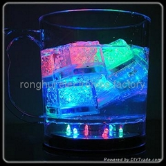LED lighted ice cube