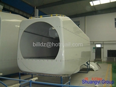 FRP wind turbine nacelle cover