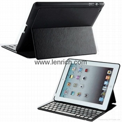 LBK152 For ipad2/3/4 Super slim Magnet bluetooth keyboard case aluminum Keyboard