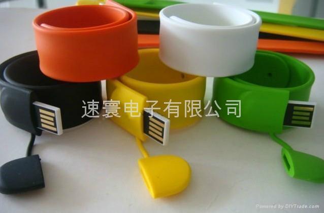 USB拍拍矽膠手環 1