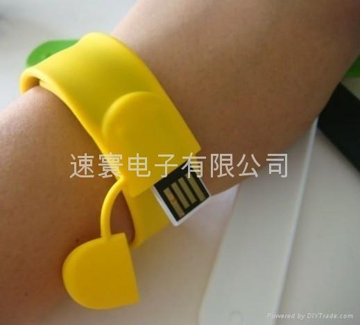 USB拍拍矽膠手環 2