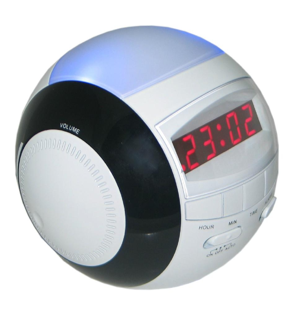 am fm led alarm clock radio with night light rt 236. Black Bedroom Furniture Sets. Home Design Ideas