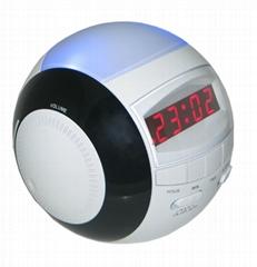 AM/FM LED Alarm Clock Radio With Night Light