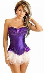 Burlesque Purple Corset