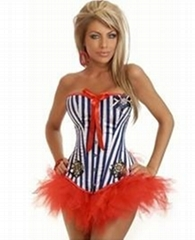 Pin-Up Sailor Costume,Strapless corset ,Corset Top,Outerwear Corsets