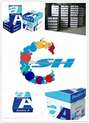 Double A ,A4 80GSM COPY PAPER 102%-104 WHITNESS