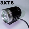 3x CREE XM-L T6 LED Bicycle bike HeadLight Lamp Light Headlamp A4 3T6 25W