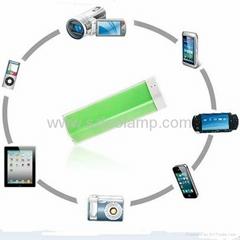 2500mAh External power bank for iPad/iPhone/smart phones/cameras
