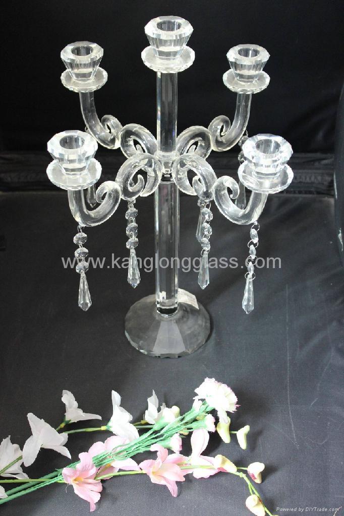 五頭水晶燭台 1