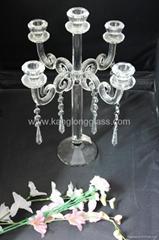 五头水晶烛台