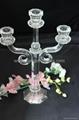 三頭水晶燭台