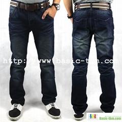 Men's 100%Cotton Good Washed Authentic Designer Jeans