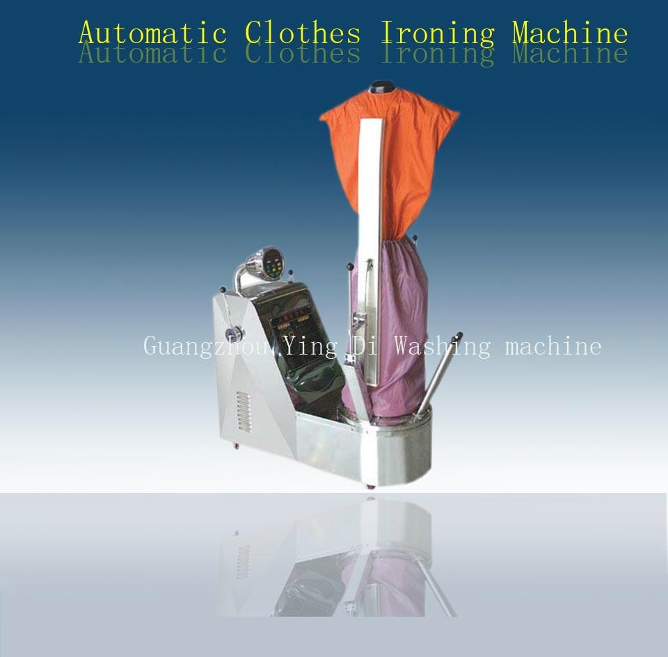 Automatic clothes ironing machine for laundry shop
