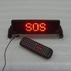 12V P6mm 7X35pixel red DIP scrolling moving indoor car display led sign