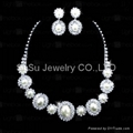 2012 Hot Fashion Bridal Wedding Jewelry Sets Crystal Necklace and Earring Sets