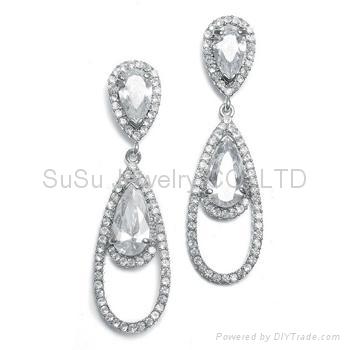 Vintage Bridal Earrings Wholesale Crystal Chandelier Earrings ...