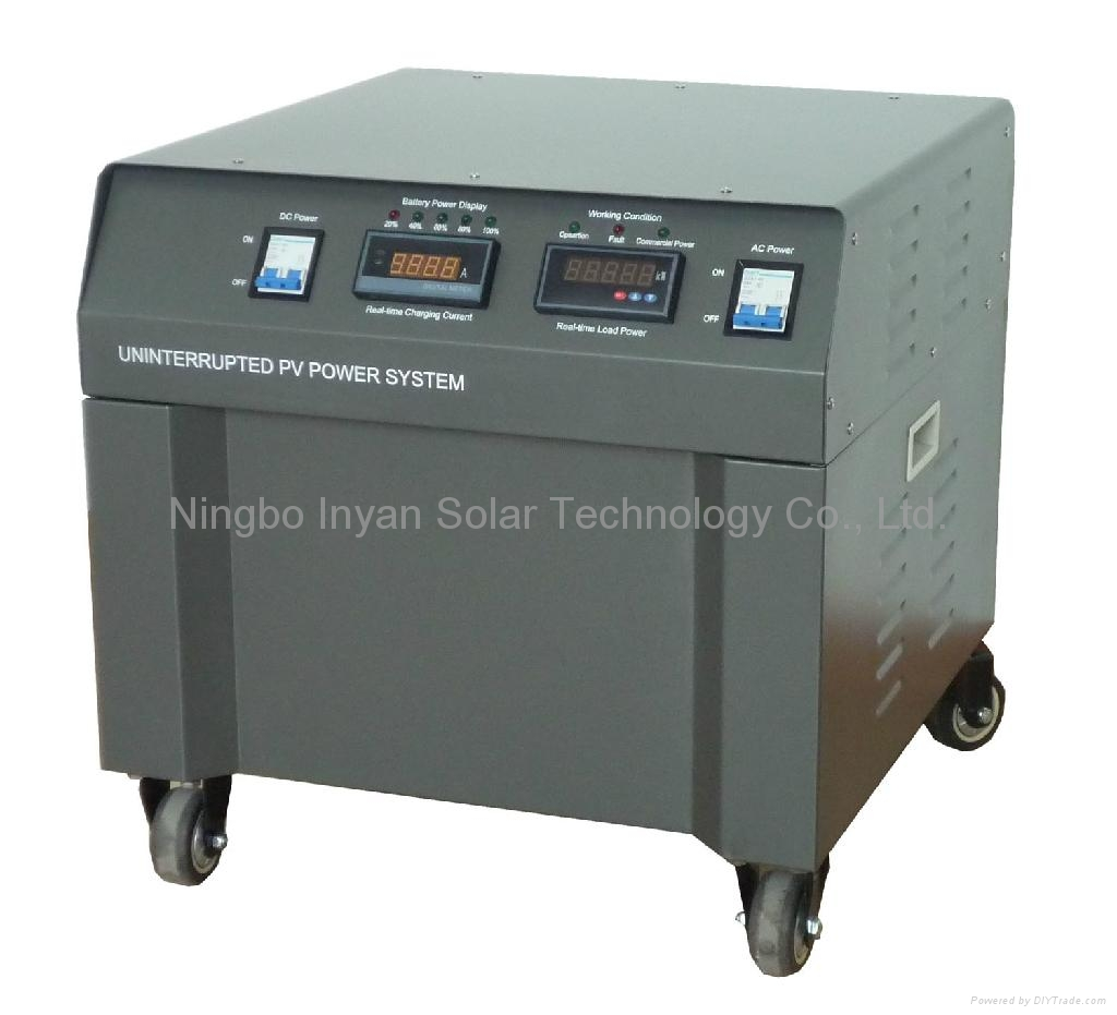 Uninterrupted solar power supply 1500W home off-grid system 1